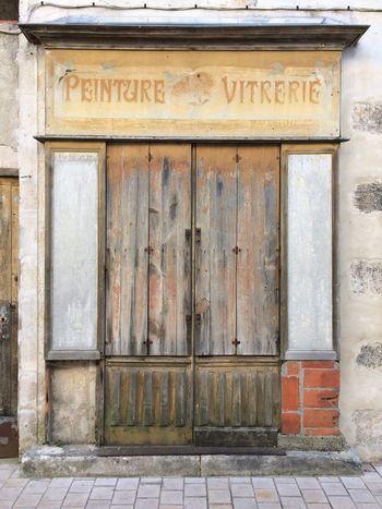 2016 Architecture Built Structure Building Exterior Vitrerie Door Old Shop Fronts Charente-Maritime