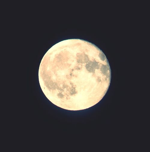 The moon shoot through the lens of a telescope. Moon Full Moon Astronomy Nature Sky Only First Eyeem Photo