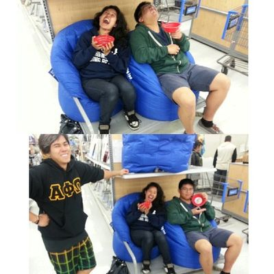 Just chillin at Walmart with our sip-a-bowls :D @wictor_wictor @betarichjon