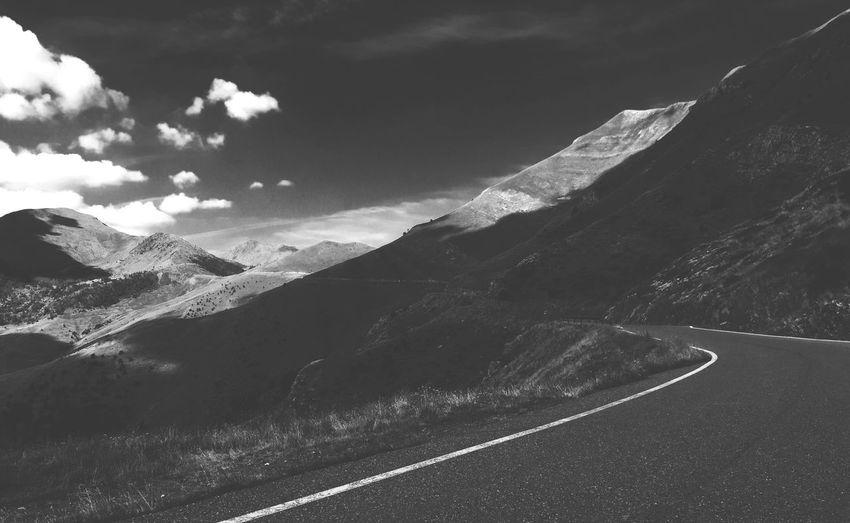 Mobilephotography The Traveler - 2015 EyeEm Awards IPhoneography Iphone6 IPhone Landscape Andorra Exploring Blackandwhite
