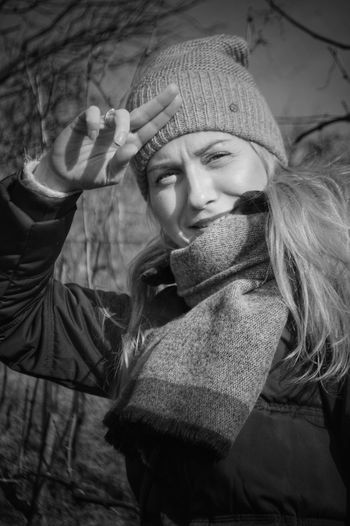 blackandwhite photographie, woman , portrait ,blond hair EyeEm Selects January 2018 Weekend Portrait Of A Woman EyeEm Best Shots - Black + White EyeemEyeEm Best Shots - People + PortraitEyeEm Model Polishgirl Poster Art Brw Winter Adults Only One Person Young Adult Warm Clothing Adult One Woman Only Beautiful Woman People Portrait Beauty Beautiful People Human Body Part