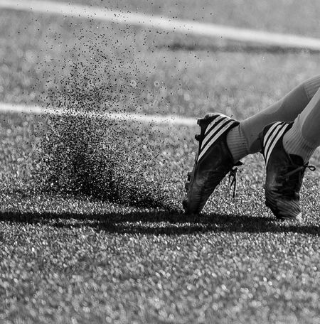 Soccer Shoes Synthetic Play Running Sport Black & White Photography In Motion