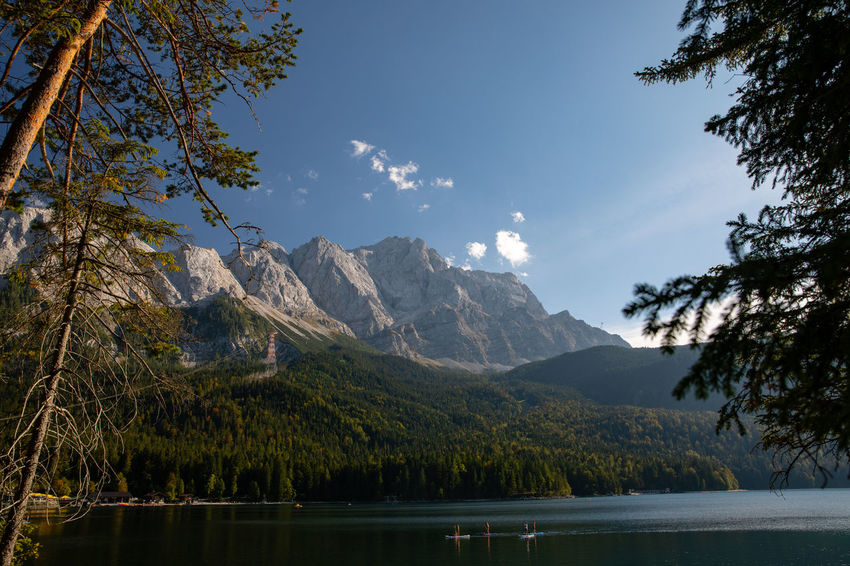 Bavaria Eibsee Tadaa Community Zugspitze Beauty In Nature Environment Formation Growth Height High Lake Landscape Mountain Mountain Peak Nature No People Outdoors Purity Range Scenery Scenics - Nature Sky Tree Water Wilderness