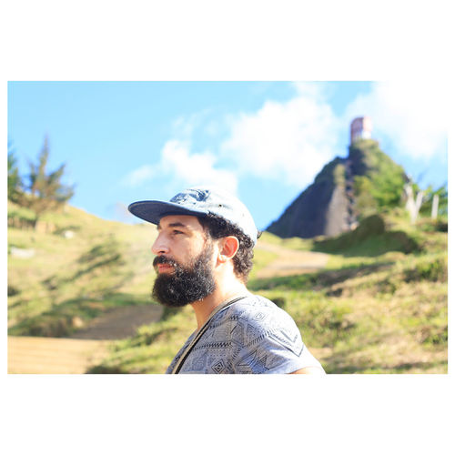 Mountain Men Beard Portrait Adventure Standing Sky Thoughtful Caucasian Head And Shoulders