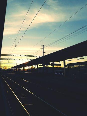 Train Station Relaxing Traveling Enjoying Life