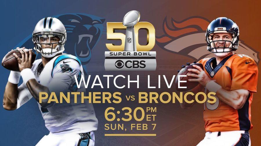 NFL Superbowl SB50 Panthers CamNewton Broncos  Payton Manning