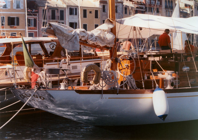 Harbor Portofino Sangermani Transportation Caligo Day Film Photography Mode Of Transport Moored Nautical Vessel Outdoor Outdoors Reflction See Transportation Travel Destinations Vintage Boat Water Waterfront Yacht 35mm Film 35mm