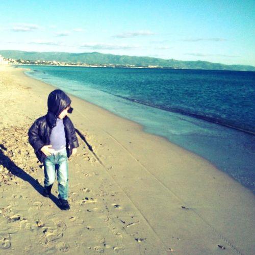 Relaxing My Sons Sea Cagliari