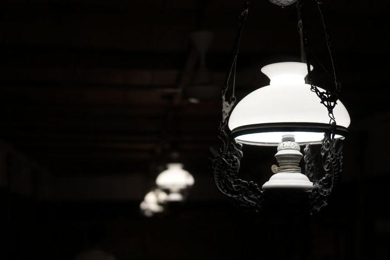 Javanese Old Lamp Old Architecture Lamp Heritage Blackandwhite Llight Lights In The Dark City Black Background Hanging Dark Lighting Equipment Close-up Lantern Light Bulb Historic Darkroom