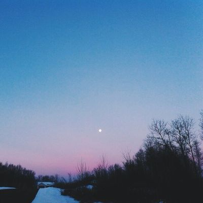 Another Moonlit morning. So beautiful. Vscocam Skychasers Chasingsky moon sunrise winter ig_connecticut connecticut