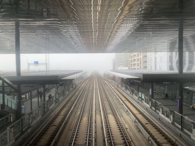 Rail Transportation Track Railroad Track Public Transportation Transportation Architecture Built Structure The Way Forward Railroad Station Mode Of Transportation Railroad Station Platform Direction Diminishing Perspective No People vanishing point Indoors  Day Travel Station