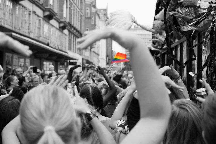 Crowd GLTB Denmark Copenhagen Pride Parade Pride Parade 2016 Copenhagen Pride 2016 Copenhagen Pride Color Palette People And Places