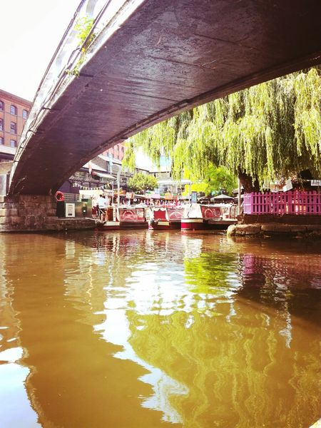 Camden Bridge - Man Made Structure Water Reflection River Day Outdoors Rippled Transportation Architecture Large Group Of People Adults Only People Adult Real People Nautical Vessel Women Nature Only Women City Sky