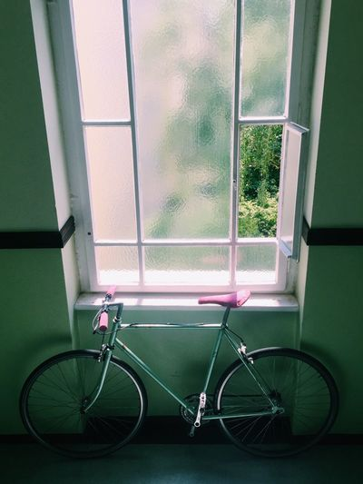 Indoors  Bike Window Light Green Pink Peugeot Retro Vintage Shabby Biking And Photography Biking Urban Fixed Gear Race Bike Racer Fixie Fixie/fixed Gear Fixedgear Fixieporn Fixie Life