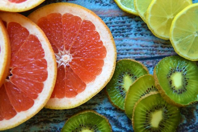 Fruits sliced Blue Table Close-up Cold Season Colorful Day Drink Excotic Food Food And Drink Food Photography Freshness Grapefruit Health Healthy Eating Kiwi Lemon Lifestyles No People Sliced Fruits Slices Strong Summer Tropical Fruits Vitamins Yummy