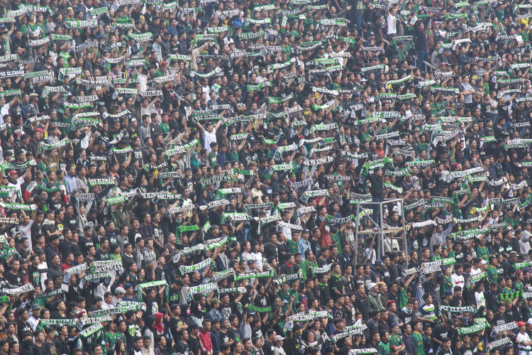 Full frame shot of crowd at sports stadium