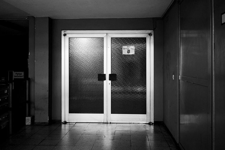 Blackandwhite Door Entrance Architecture Building Built Structure Closed No People Building Exterior Protection Security Safety Day Doorway House Glass - Material Wall - Building Feature Outdoors
