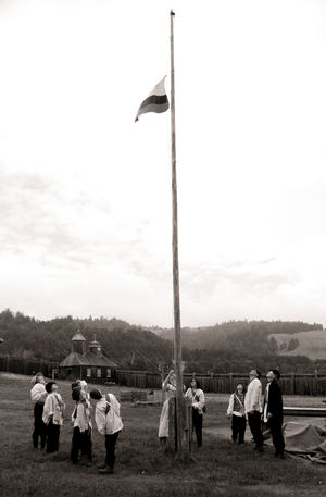 Hills Day Flag Foggy Fort Ross Nature Outdoors People Togetherness