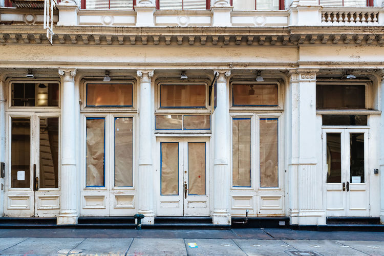 Luxury fashion store for renovation in soho, nyc