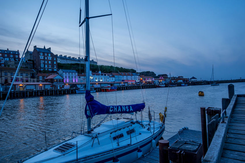 Whitby Whitby Harbour Whitby View Whitby North Yorkshire North Yorkshire North Yorkshire Coast Seaside Seaside Town Coastal No People Dusk Harbor Sea Moored Sailboat Cloud - Sky Pier Yacht Nautical Vessel Sky Water City Bay Outdoors Transportation