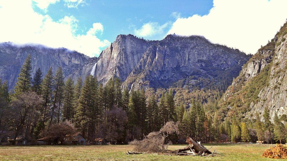 Yosemite Waterfall Cliff Yosemite Valley Yosemite National Park