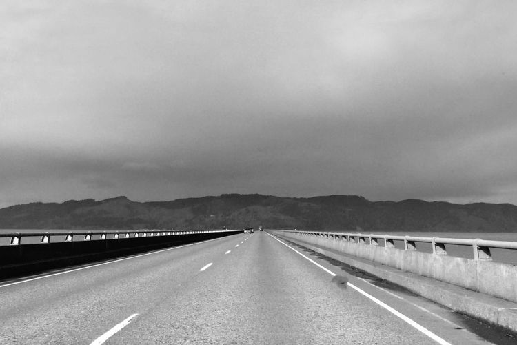 Vanishing Point Black & White On The Road