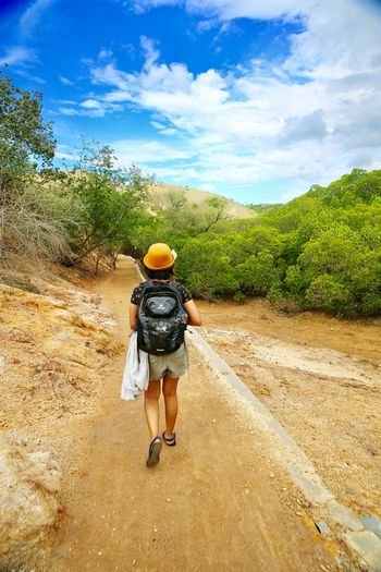 Trekking on Komodo Island, Labuan Bajo, East Nusa Tenggara, Flores, Indonesia, @himsaifanah INDONESIA Komodo National Park Travel Photography EyeEm Nature Lover EyeEm Best Shots EyeEm Best Shots EyeEm Masterclass @himsaifanah, Indonesia, Him, Saifanah, Travel, Tourism, Asia, Pariwisata, Travel Fotografer, Pariwisata, Nusantara, Kementerian Pariwisata, #PesonaIndonesia, #WonderfulIndonesia, Helmet People Climbing Young Adult Scenics Real People Extreme Sports Beauty In Nature Nature One Person Day Outdoors