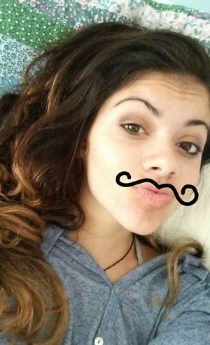 Mustache. Mustache Girl Funny