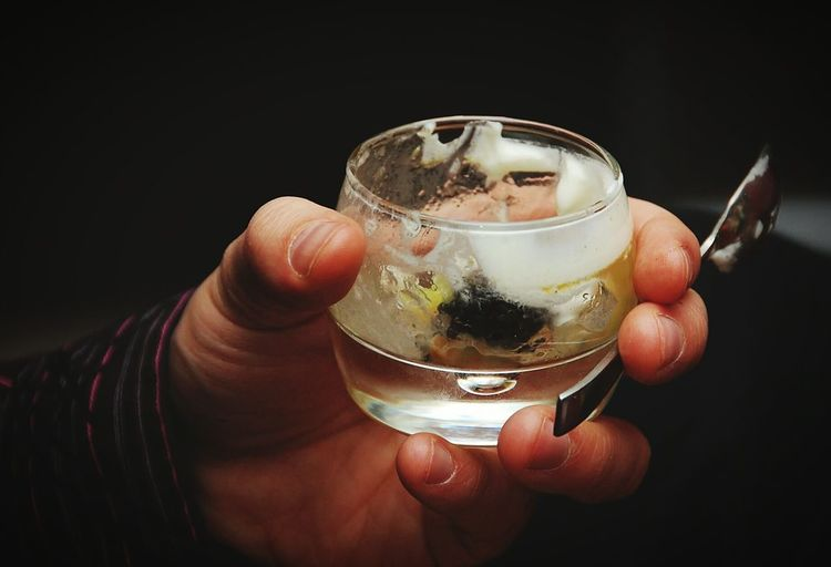 Human Hand Food And Drink Close-up Holding Empty Glass Spoon Amuse Bouche Eating Food Photography Food And Drink