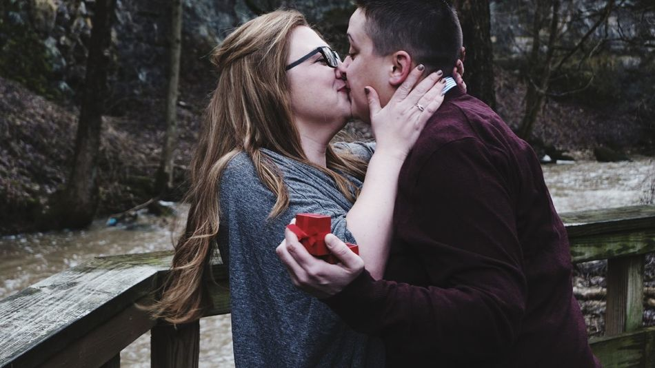 Warm Clothing Friendship Young Women Bonding Togetherness Men Winter Women Couple - Relationship Wireless Technology Date Night - Romance Falling In Love Kissing Love At First Sight