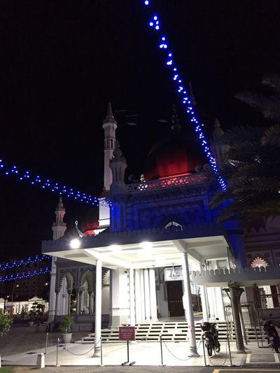 Alorsetar Mosque Night Architecture Built Structure Building Exterior Illuminated City Building