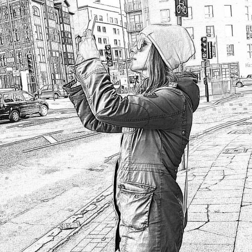Playing with the line drawing mode in Camera360 Igersmcr Wwim10_igersmcr Manchester