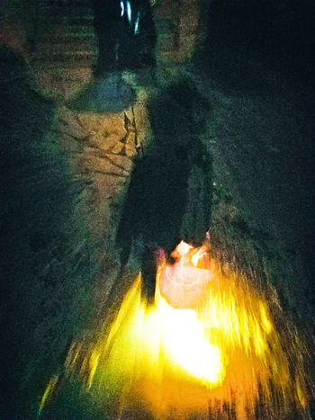 Halloween Night Illuminated Long Exposure Outdoors