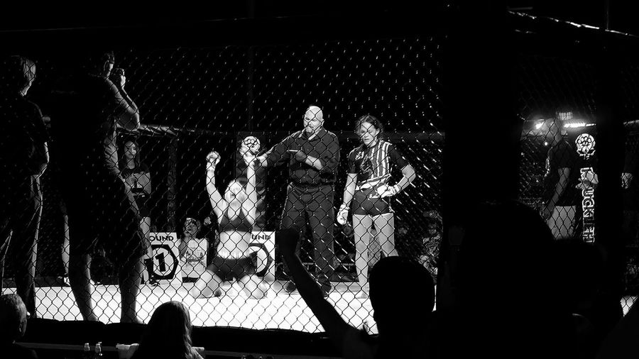 Victory Fight Fighting Fighter Girl Power Cage Fighter  Performance Large Group Of People BloodLust Hanging Out Taking Photos Check This Out Blackandwhite Photography The Street Photographer - 2018 EyeEm Awards