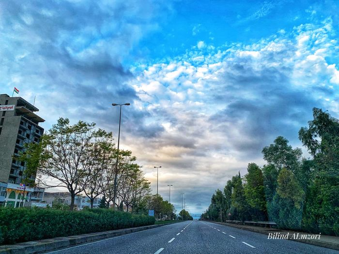 Eyem Nature Lovers  Eyemphotography Mobilephotography Iphonexsmax Eyem Best Shots Cityscape Kurdistan Sky Cloud - Sky Tree Plant Road Nature No People Transportation Architecture The Way Forward Direction Day Outdoors City Street