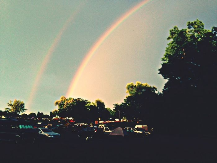 Concert Vscocam Kentucky  Sunset And Rainbow