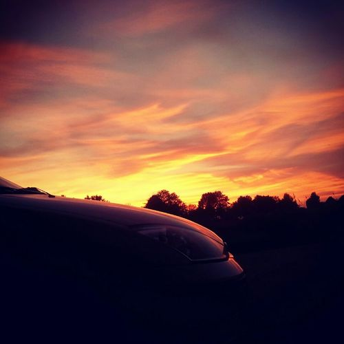 Ford Focus Car Beautiful Sunset Summer Beautiful View Sun Sky And Clouds Love It Lemgo