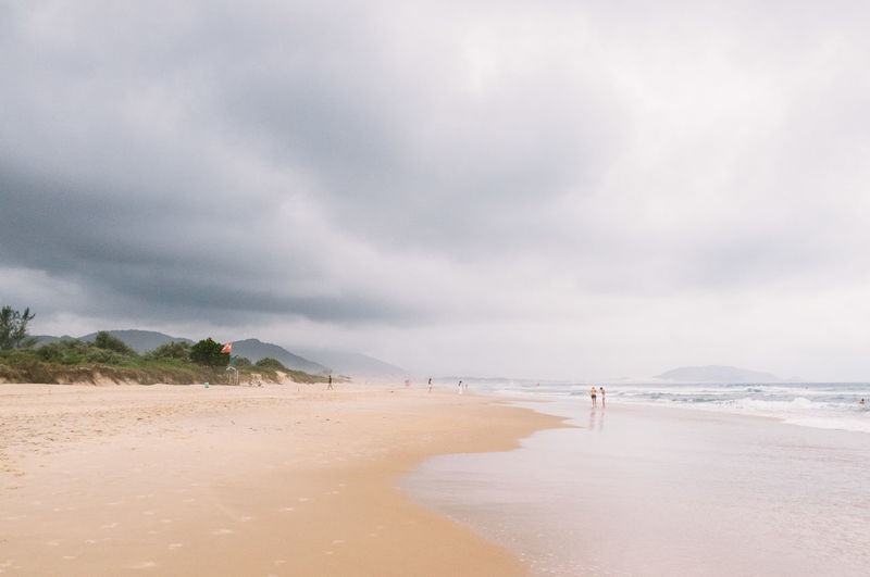 Beach Beauty In Nature Brazil Cloud Cloud - Sky Day Florianópolis Horizon Over Water Nature One Person Outdoors People Sand Scenics Sea Sky Tranquil Scene Tranquility Water