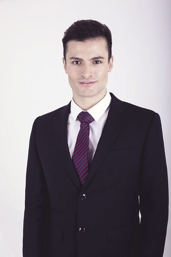 Apply Studio Shot Appliances White Background Men Handsome Young And Educated Young And Eager Black Hair