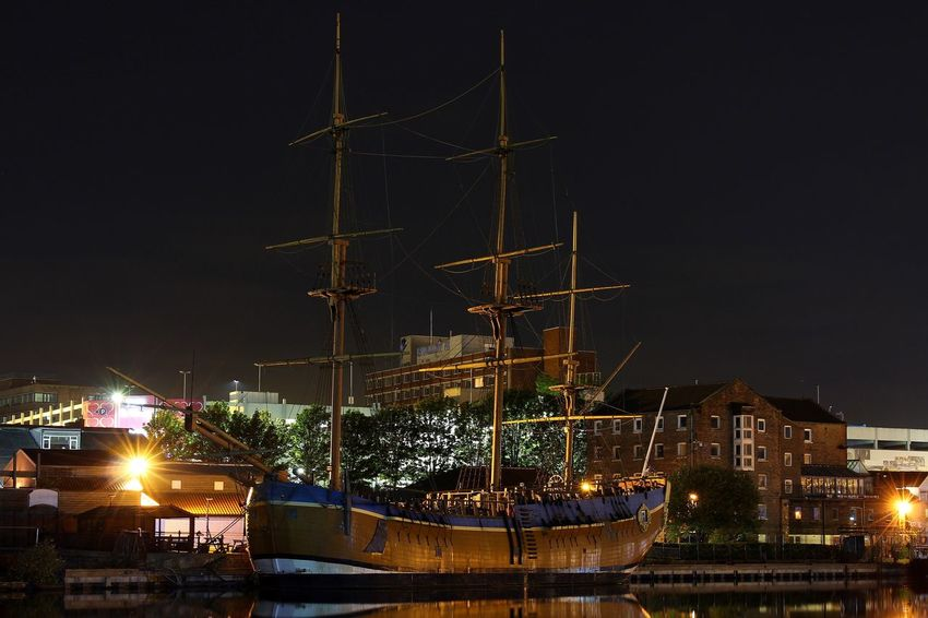 HM Bark Endeavour Architecture Building Exterior Built Structure City Cityscape Harbor Illuminated Mast Mode Of Transport Moored Nautical Vessel Night No People Outdoors Sailboat Sailing Ship Sea Sky Tall Ship Transportation Travel Destinations Water