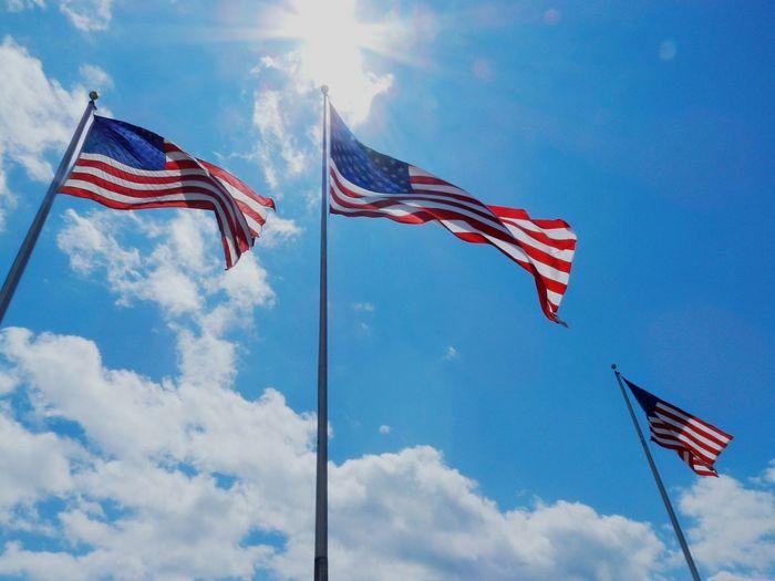 Standing Tall Flags Sky_collection USA USA FLAG