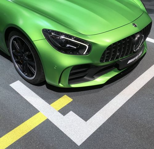 Cars Green Color Mercedes AMG GTS Mercedes-Benz Passion Salon Auto Geneve Transportation Vehicle
