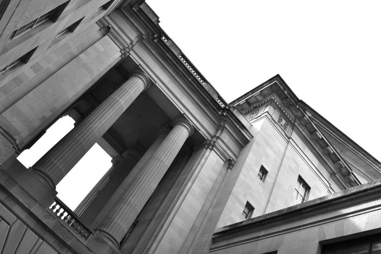 Historical Building Travel Photography Washington Washington DC Washington, D. C. Architectural Column Architecture Black And White Blackandwhite Building Exterior Built Structure Historic Historic Building Historical History Low Angle View No People Photography Stone Pillars Travel Destinations