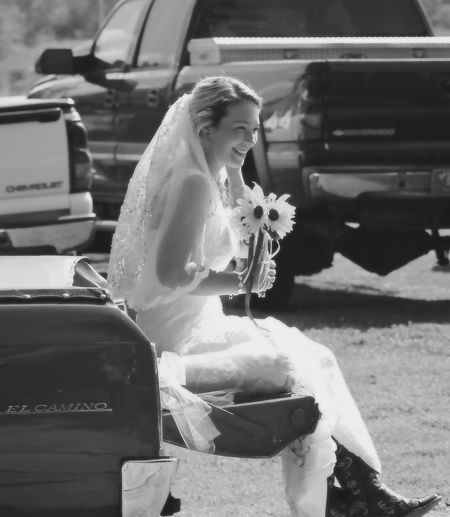 Wedding Dress Adult Outdoors Happiness Bride Women Smiling Holding Day One Woman Only Transportation El Camino Wedding Day