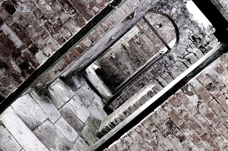 Bricks Day Deserted Grainy Hallway No People Spooky Stone Tilt Tyneham Village