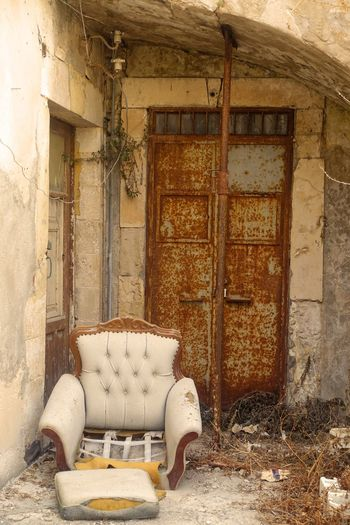 Armchair Decay Italy Morbidity No People Rotten Ruin Sicily