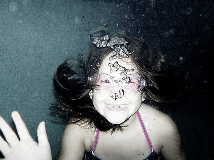 Bubbles Child Children Only Goggles One Person Real People Underwater Water
