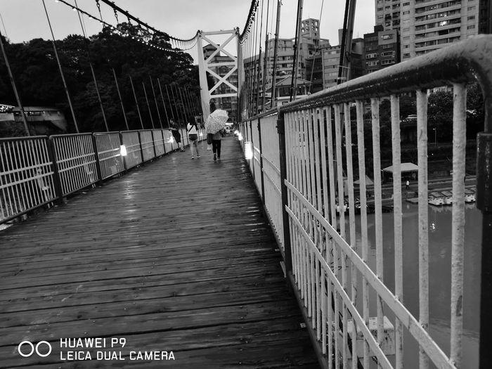 Huaweiphotography HuaweiP9 Huawei P9 Leica Taipei Blackandwhite Photography Outdoors Water Bridge Taiwan Taiwanese Culture Scenery