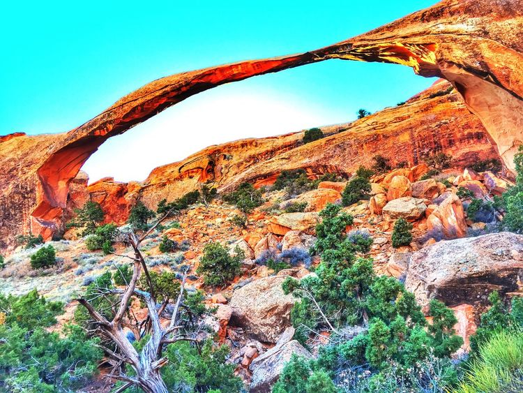 Landscape Arch Rock Nature Outdoors Nationalpark Public Land Arches Utah Desert