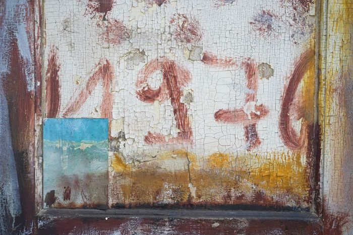 Sommerhaus, früher Iwantthatcamera Full Frame No People Pattern Close-up Backgrounds Text Textured  Communication Paint Wall - Building Feature Graffiti